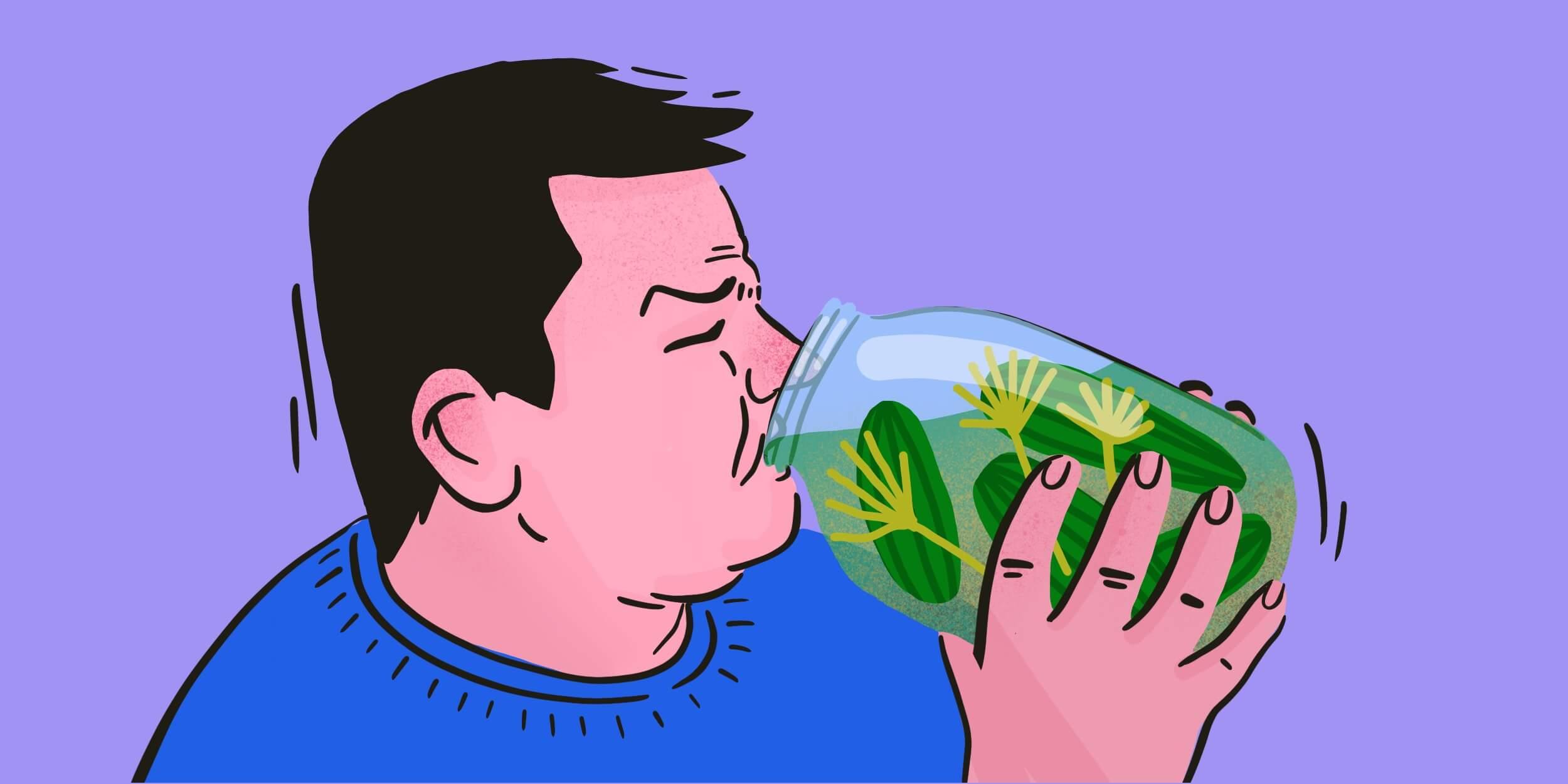 капустный и огуречный рассол при выводе из запоя